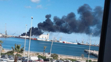 Turkish ship carrying weapons targeted by LNA in Tripoli port