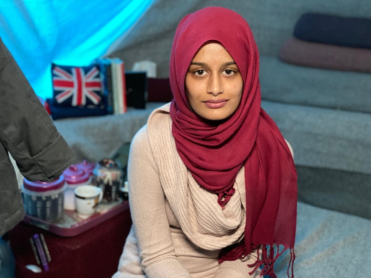Shamima Begum pictured in her tent at the al-Roj refugee camp in northeast Syria. (Photo courtesy: James Longman/ABC News via Twitter)