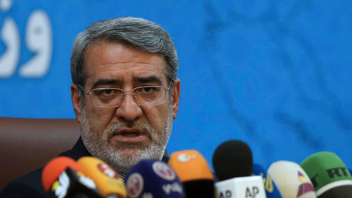 Iranian Interior Minister Abdolreza Rahmani Fazli speaks during a press conference in Tehran on July 1, 2018. (File photo: AP)