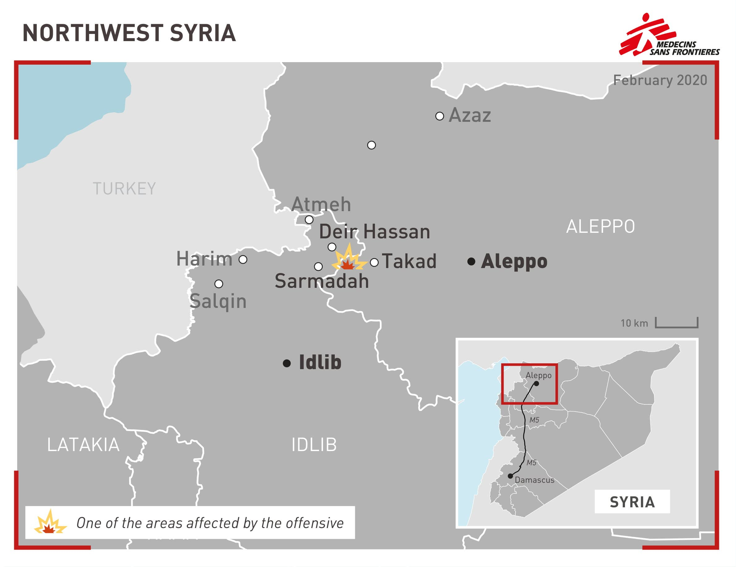 Syria map from MSF (MSF)