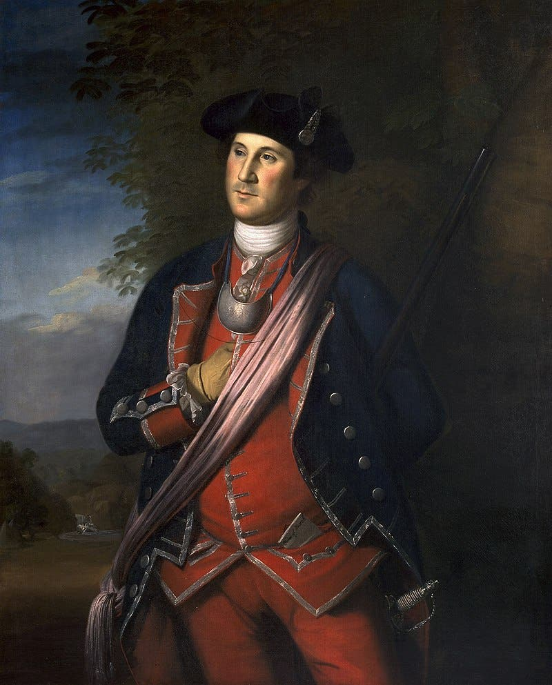 لوحة تجسد جورج واشنطن عام 1772