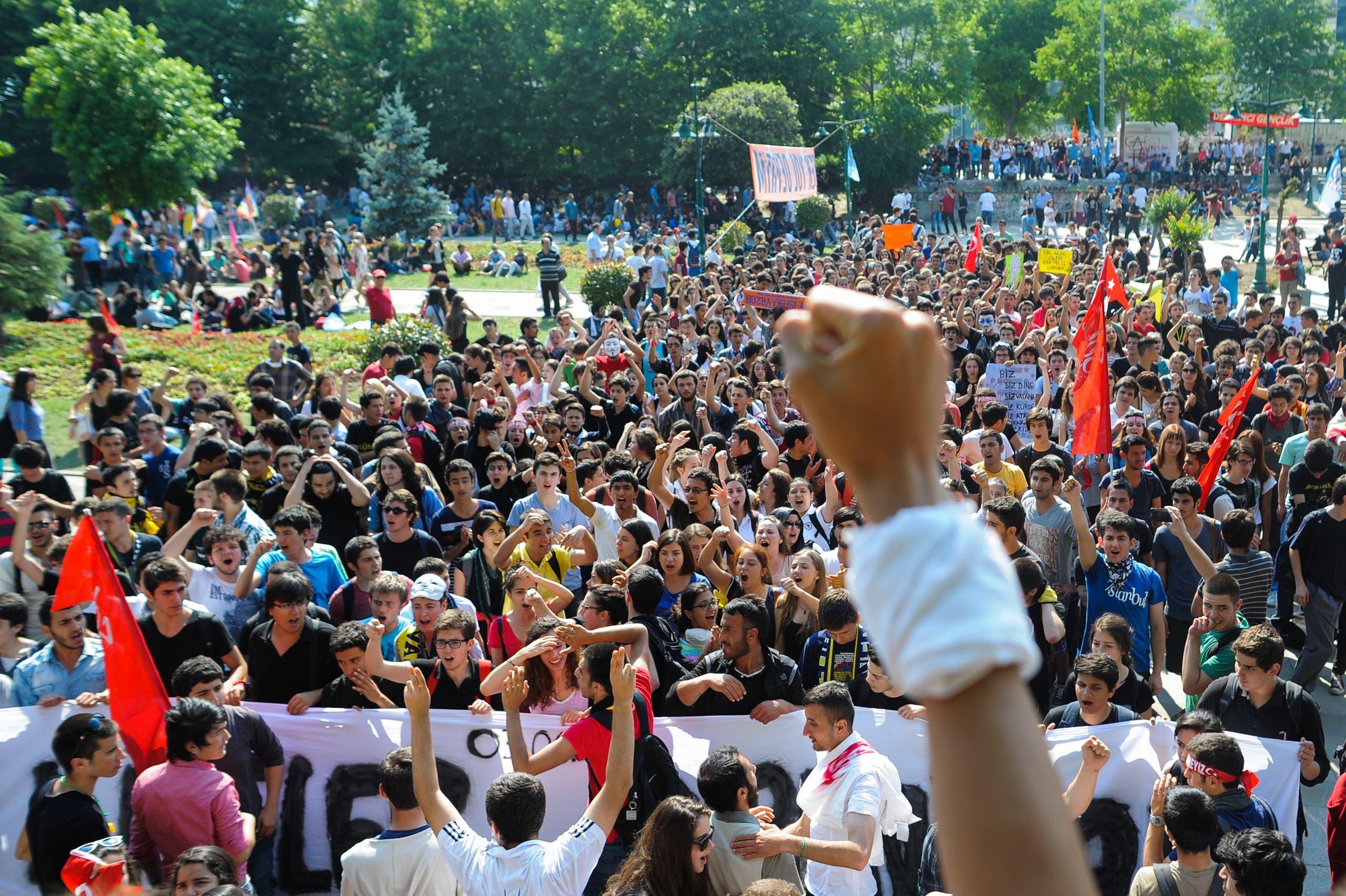 من احتجاجات غيزي في اسطنبول عام 2013
