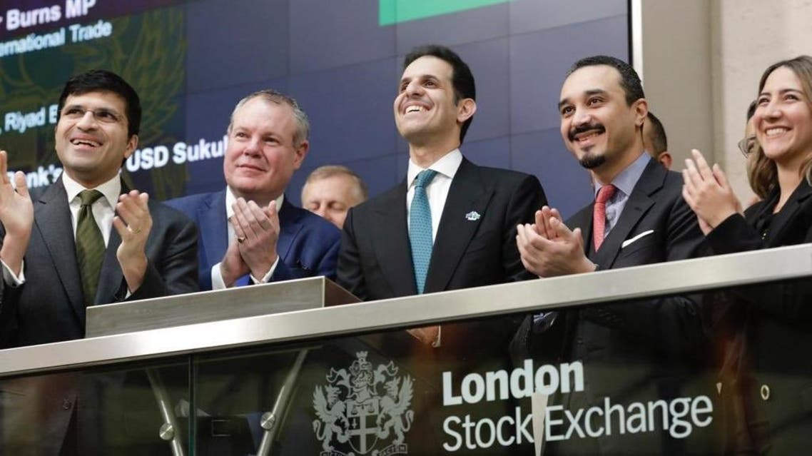 Saudi Arabia's Ambassador to the UK Prince Khalid bin Bandar attended the London Stock Exchange to celebrate the sukuk's listing. (Twitter)