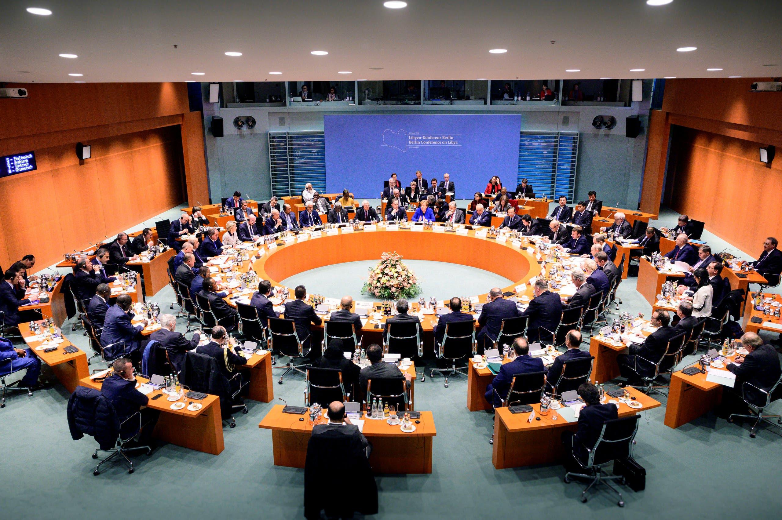 من مؤتمر برلين حول ليبيا والذي انعقد في يناير الماضي