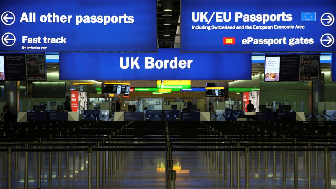 UK Border control is seen in Terminal 2 at Heathrow Airport in London. (File Photo: Reuters)