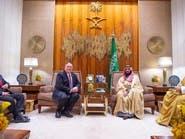 ولي العهد السعودي يلتقي وزير الخارجية الأميركي