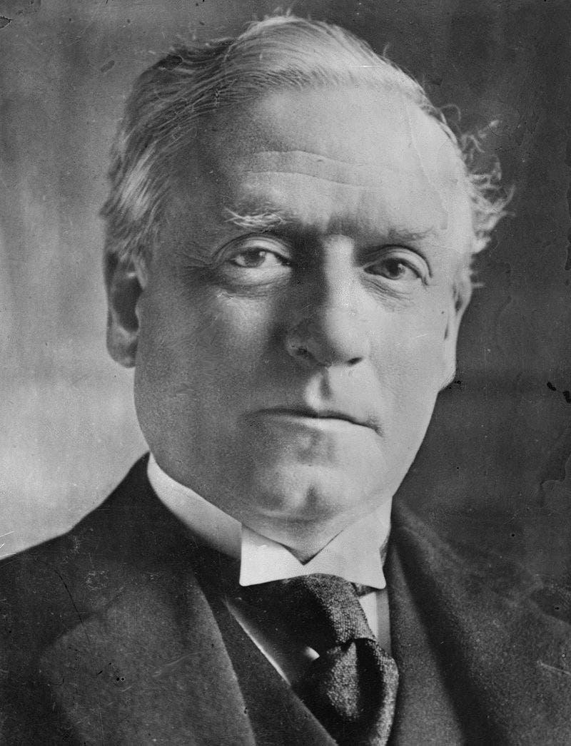 صورة لرئيس وزراء بريطانيا هربرت هنري أسكويث
