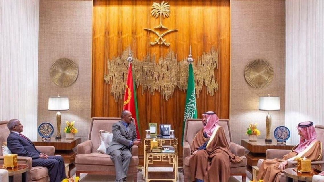 Isaias Afwerki (current president of Eritrea)meets Saudi crown Prince