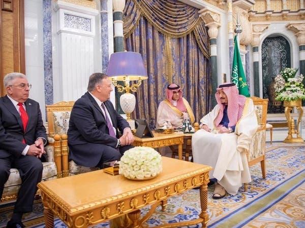 الملك سلمان يبحث مع بومبيو العلاقات الثنائية وقضايا المنطقة