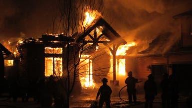 إثر شجار.. سعودي يحرق منزله فيصيب زوجته بحروق بالغة
