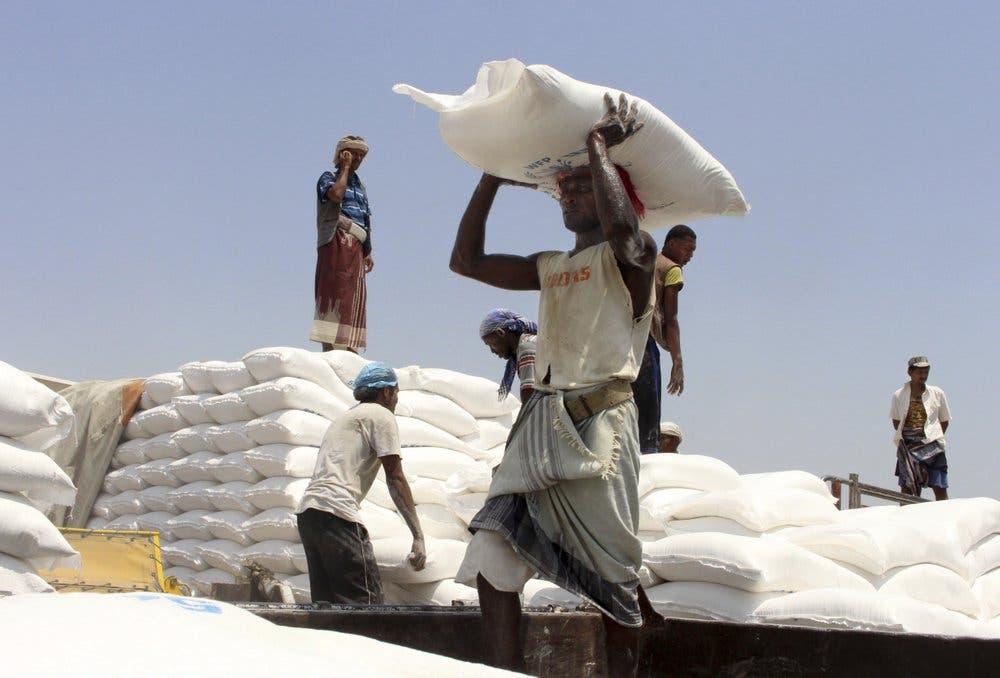 المساعدات الإنسانية في اليمن أرشيفية