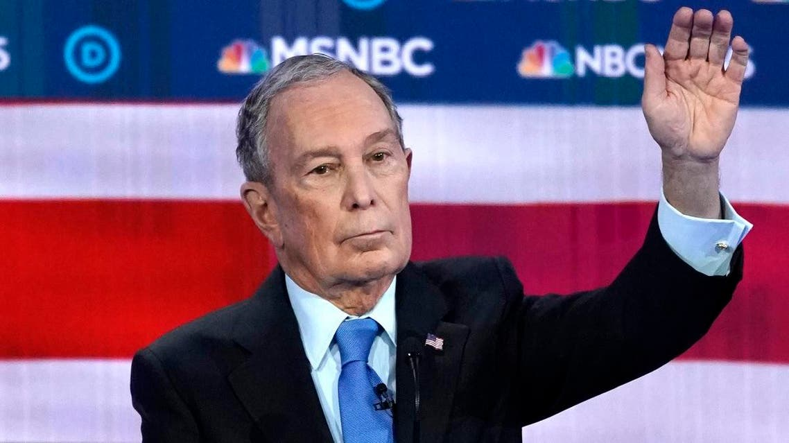 Former New York City Mayor Mike Bloomberg raises his hand to speak during the ninth Democratic 2020 U.S. Presidential candidates debate at the Paris Theater in Las Vegas Nevada, U.S., February 19, 2020. (Photo: Reuters)