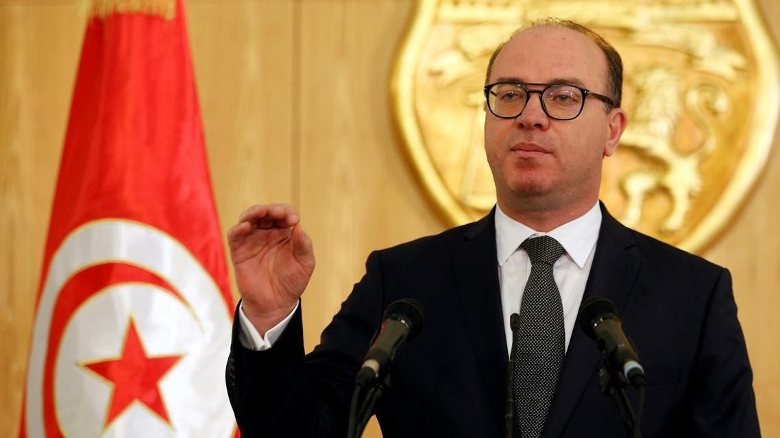 Tunisia's prime minister designate Elyess Fakhfakh speaks during a news conference in Tunis. (Reuters)