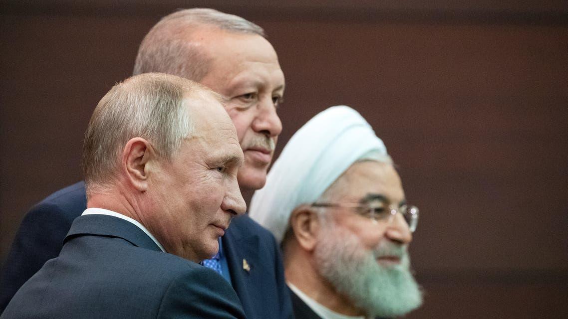 أردوغان بوتين روحاني في أنقرة يوم 16 سبتمبر 2019