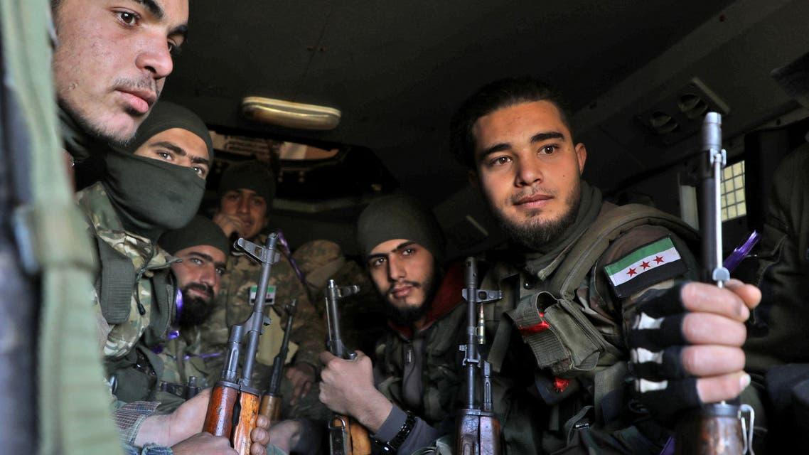 فصائل سورية موالية لتركيا في إدلب (20 فبراير - فرانس برس)