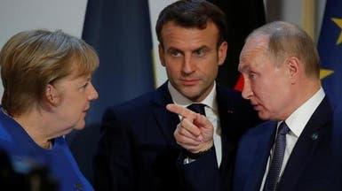 ميركل وماكرون يبحثان أزمة إدلب مع بوتين