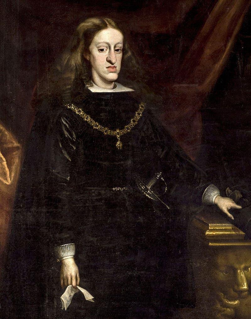لوحة تجسد الملك الإسباني كارلوس الثاني