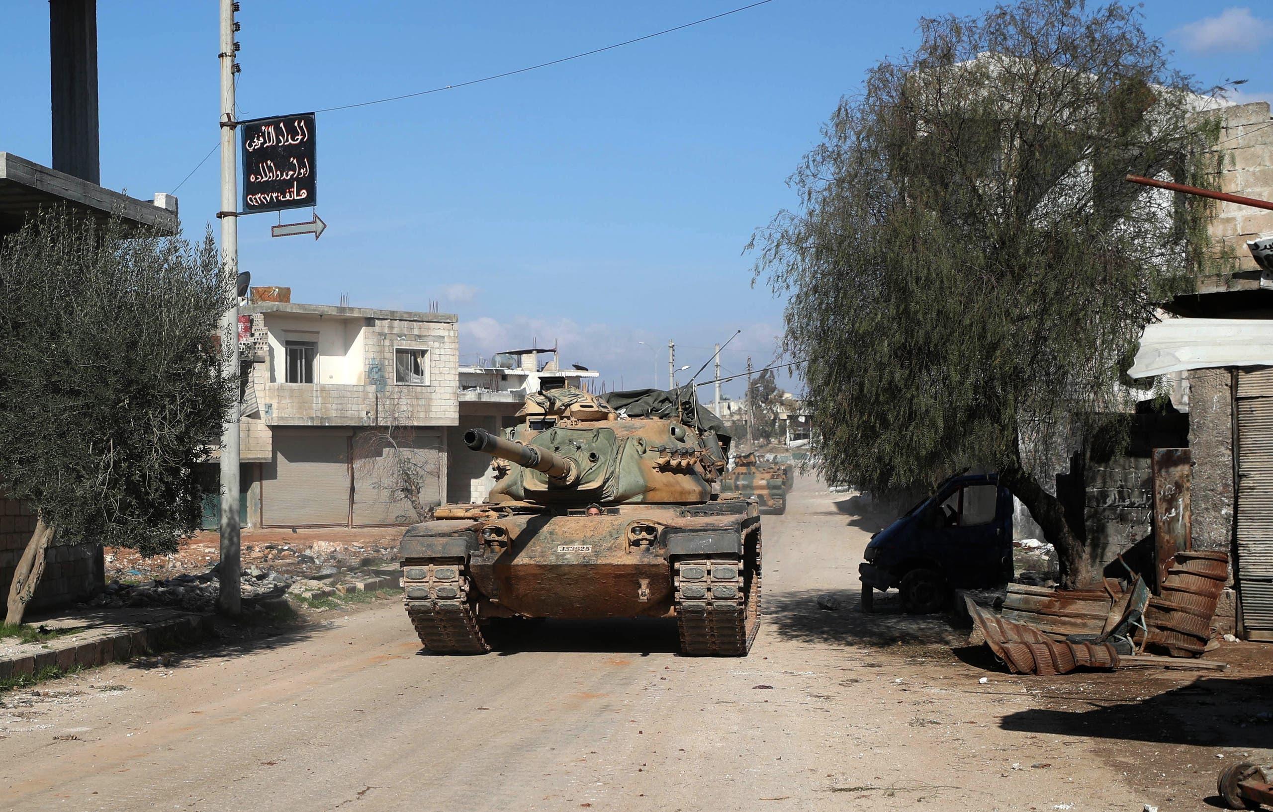 دبابة تركية في إدلب