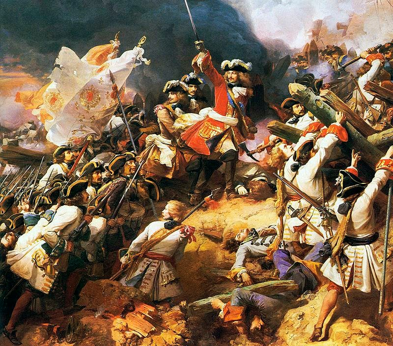 رسم تخيلي لإحدى المعارك بحرب الاستقلال الإسبانية
