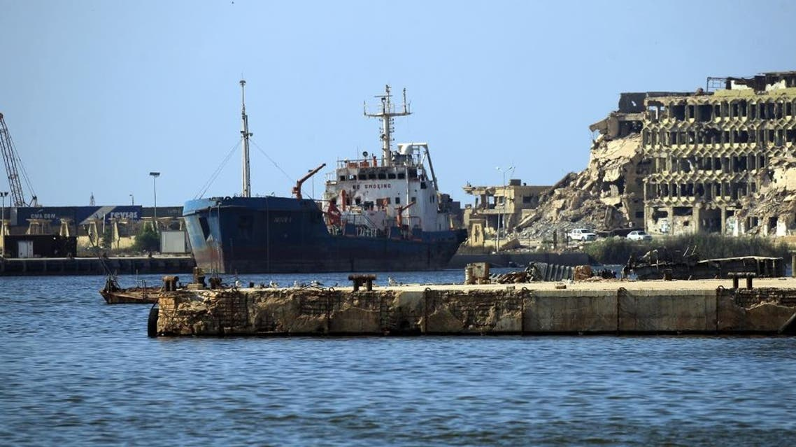 A view of a ship moored in the harbour of the eastern Libyan port city of Benghazi. (File photo: AFP)