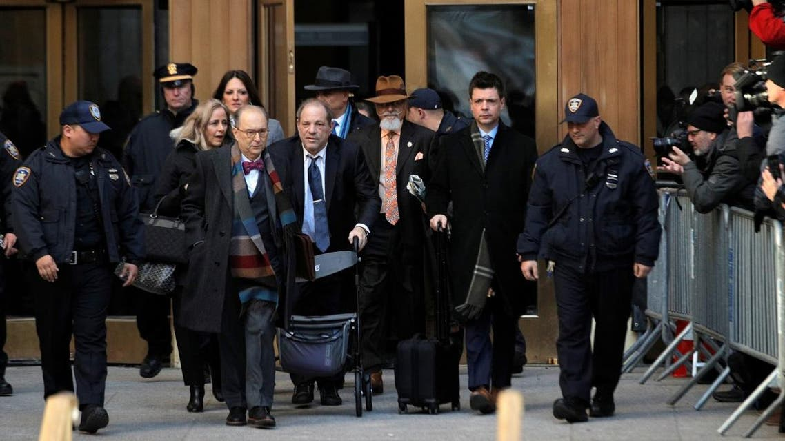 Film producer Harvey Weinstein exits New York Criminal Court following the fourth day of jury deliberations. (Reuters)