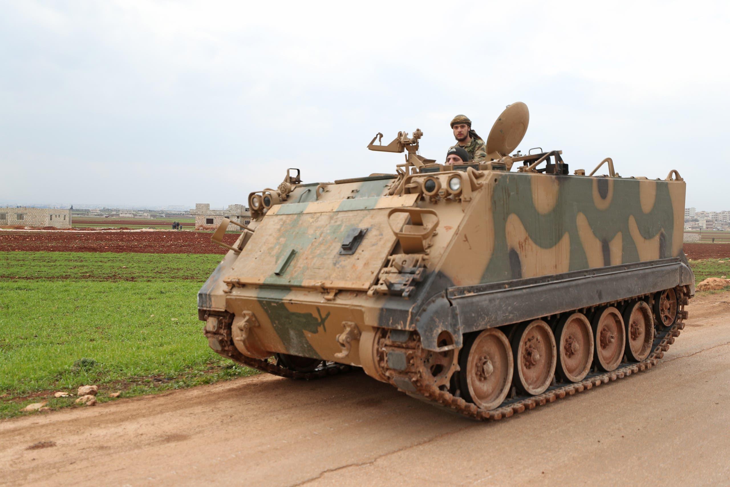 فصائل سورية موالية لتركيا شرق إدلب (أرشيفية)