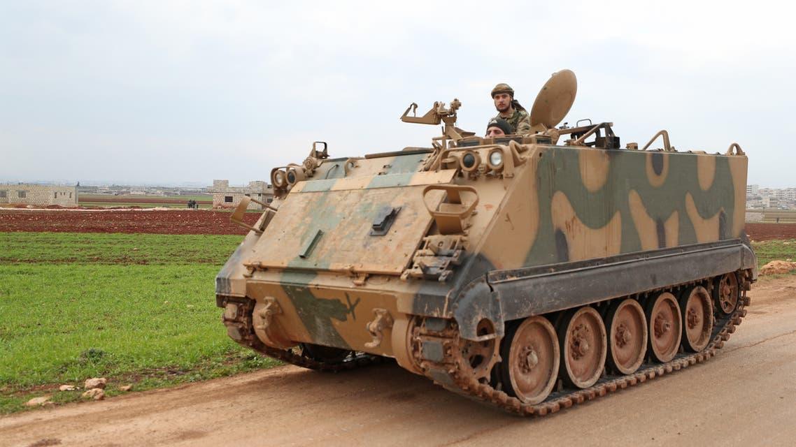 فصائل سورية موالية لتركيا شرق إدلب يوم 21 فبراير