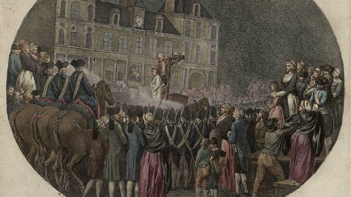 رسم تخيلي لعملية اعدام الماركيز دي فافراس