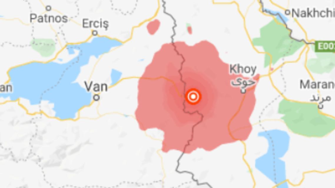 5.7 magnitutde in iran feb 23 2020 (google maps)