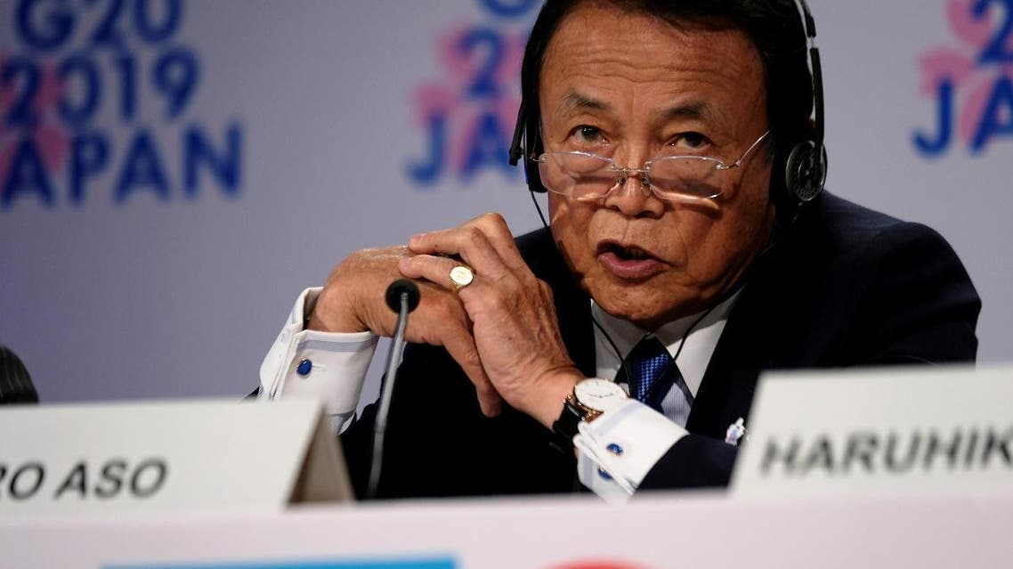 File photo of Japanese finance minister Taro Aso. (Reuters)