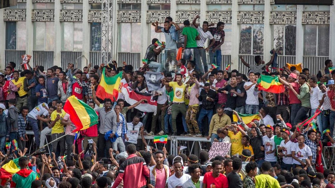 File photo of Ethiopians rallying  in solidarity with Prime Minister Abiy Ahmed. (AP)