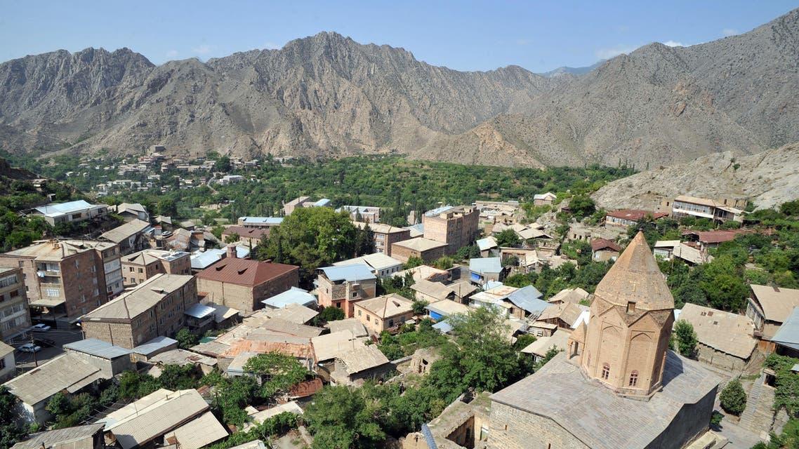 A view of the Armenian town of Meghri, near the border where Armenia, Azerbaijan, Iran and Turkey join. (AFP)