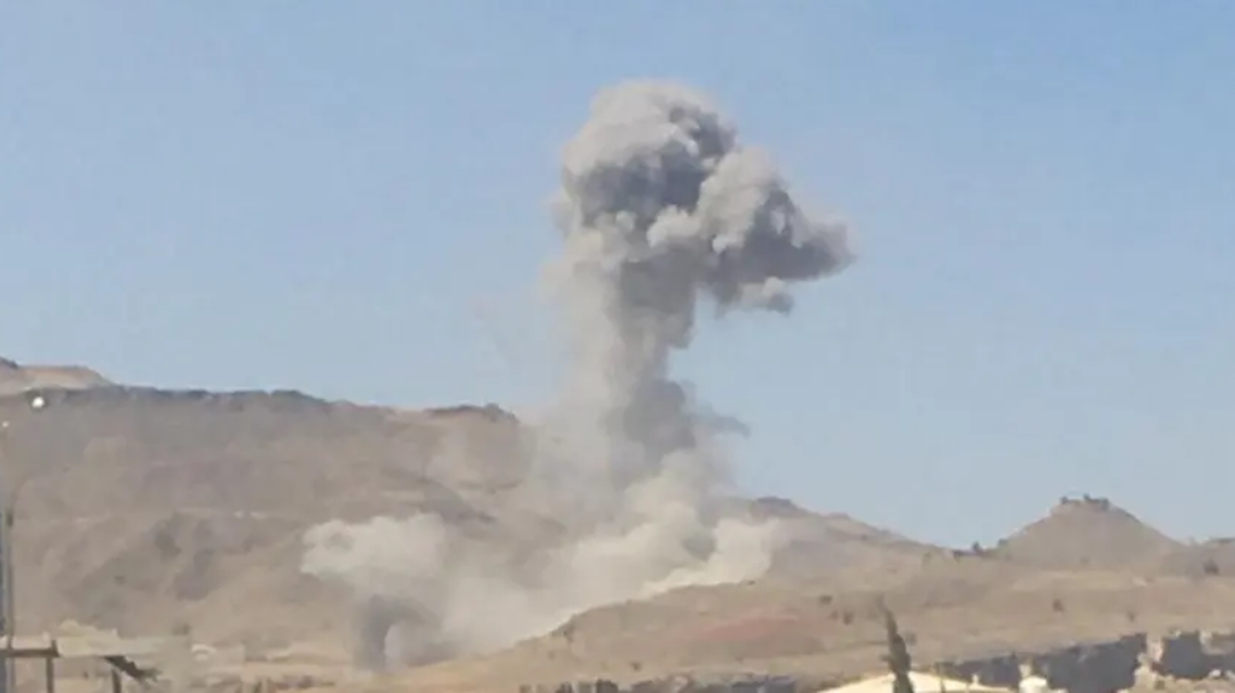 The Arab Coalition destroyed Iran-backed Houthi militia warehouses that held ballistic missiles and drones. (Supplied)
