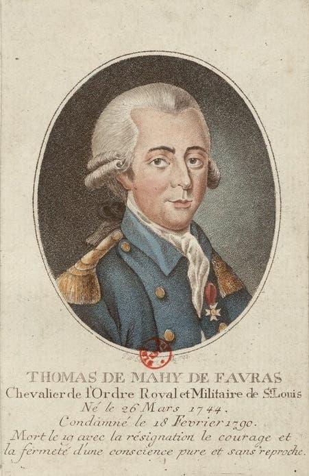 لوحة تجسد الماركيز دي فافراس المعروف أيضا بتوماس دي ماهي