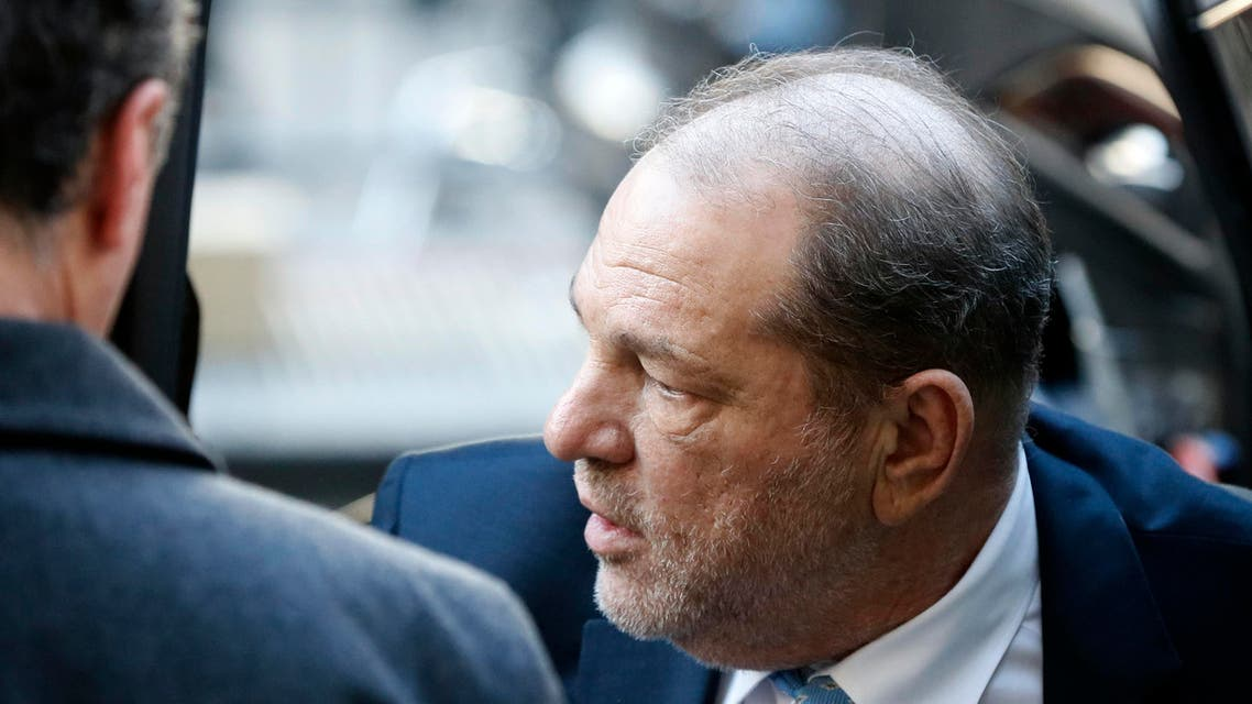 Harvey Weinstein arrives at a Manhattan courthouse on Feb. 24, 2020, in New York. (AP)