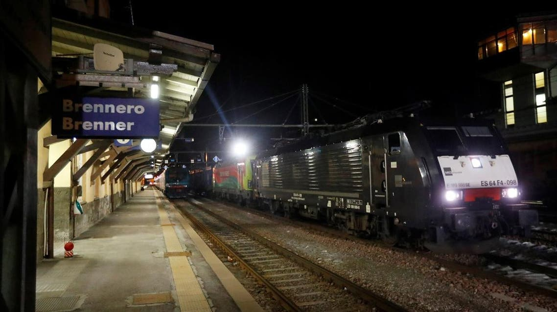 Brennero-Brenner train station in Italy, on February 23, 2020. (Reuters)
