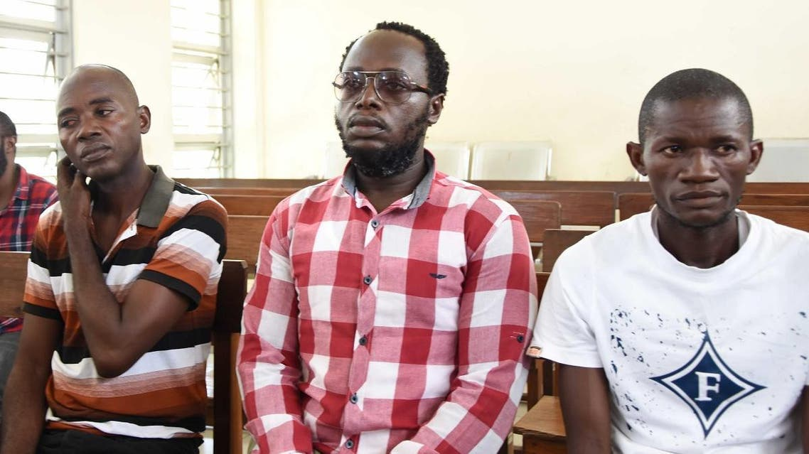 Detained Tanzanian journalist Erick Kabendera (C) appears at the Kisutu Resident Magistrate Court in Dar es Salaam, Tanzania, on January 2, 2020. (File photo: AFP)