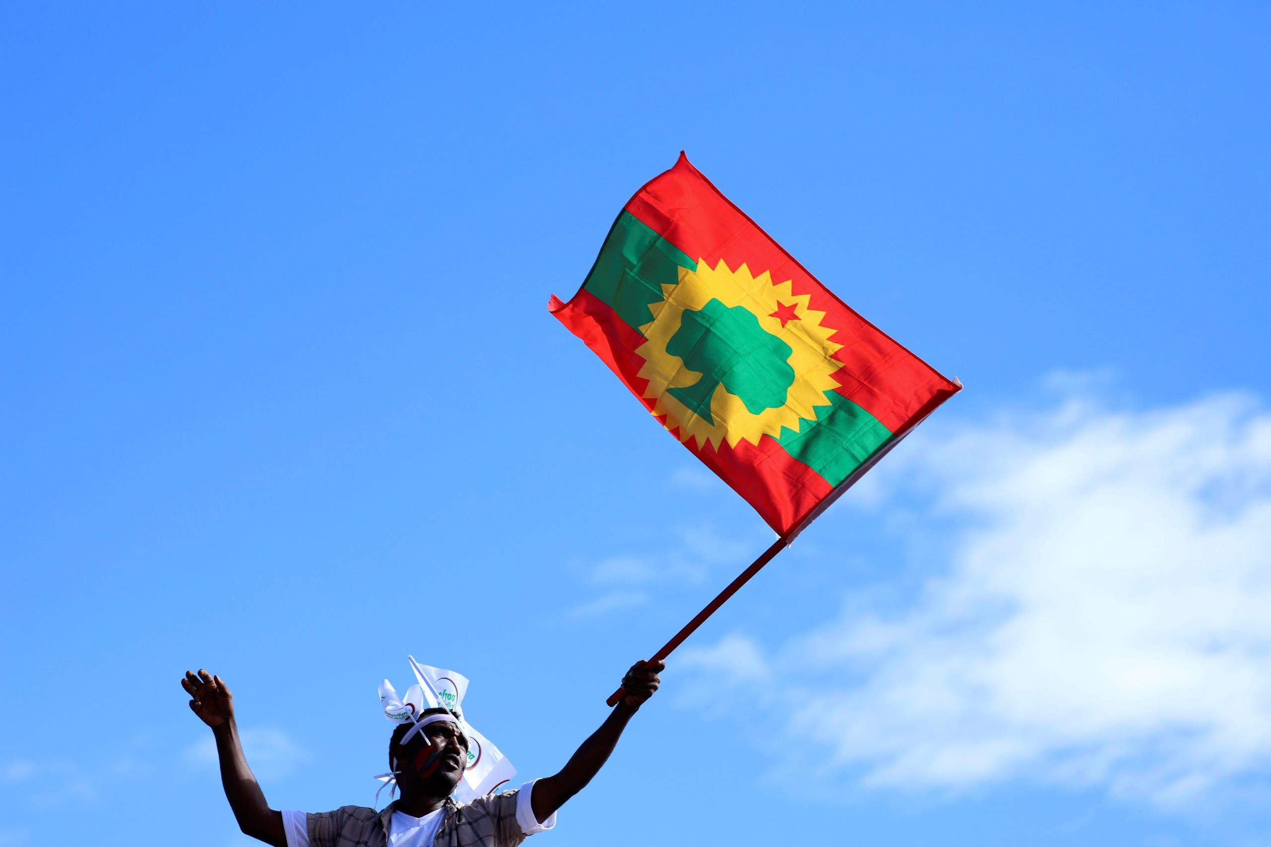 Oromo Liberation Front flag - Reuters