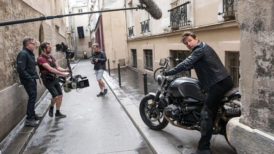 """Production of the latest film in the """"Mission: Impossible"""" series starring Tom Cruise has been stopped in Italy following the coronavirus outbreak. (Twitter)"""