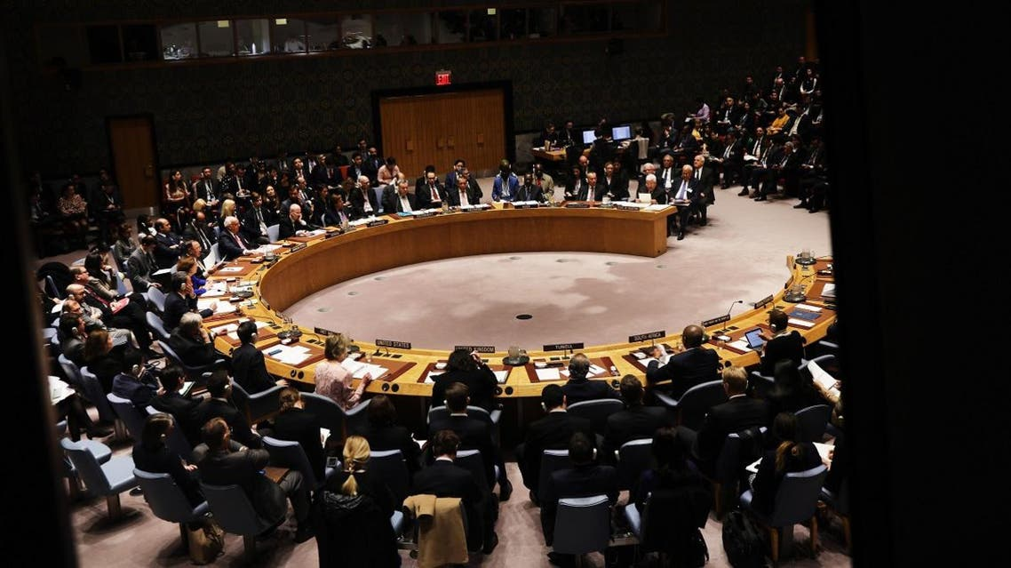 The United Nations (UN) Security Council meets to hear from Palestinian President Mahmoud Abbas at the UN in New York on February 11, 2020 in New York City. (File photo: AFP)