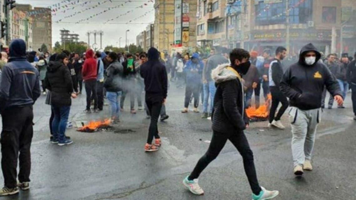 من احتجاجات ايران في نوفمبر