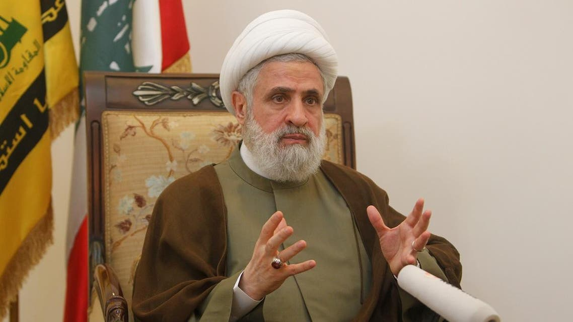 Lebanon's Hezbollah deputy leader Sheikh Naim Qassem gestures as he speaks during an interview with Reuters at his office in Beirut's suburbs, Lebanon August 3, 2016. (Reuters)