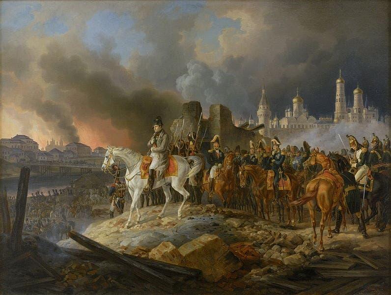نابليون بونابرت عقب حريق موسكو