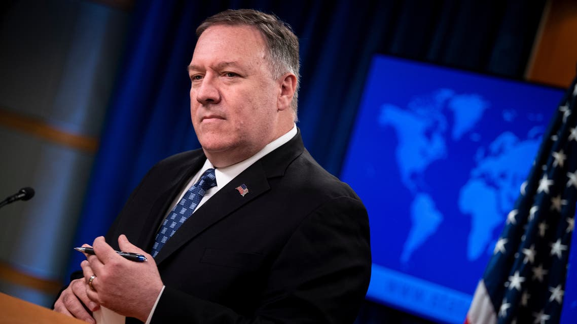 US Secretary of State Mike Pompeo speaks during a briefing at the US Department of State February 25, 2020, in Washington, DC.