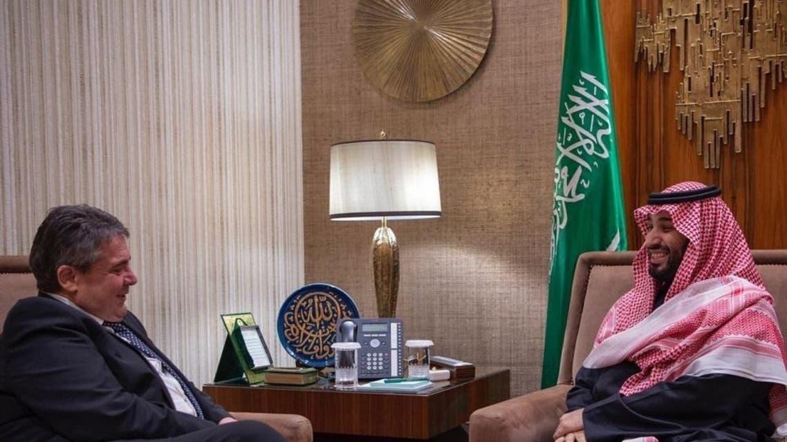الأمير محمد بن سلمان ووزير الخارجية الألماني السابق زيغمار جابرييل