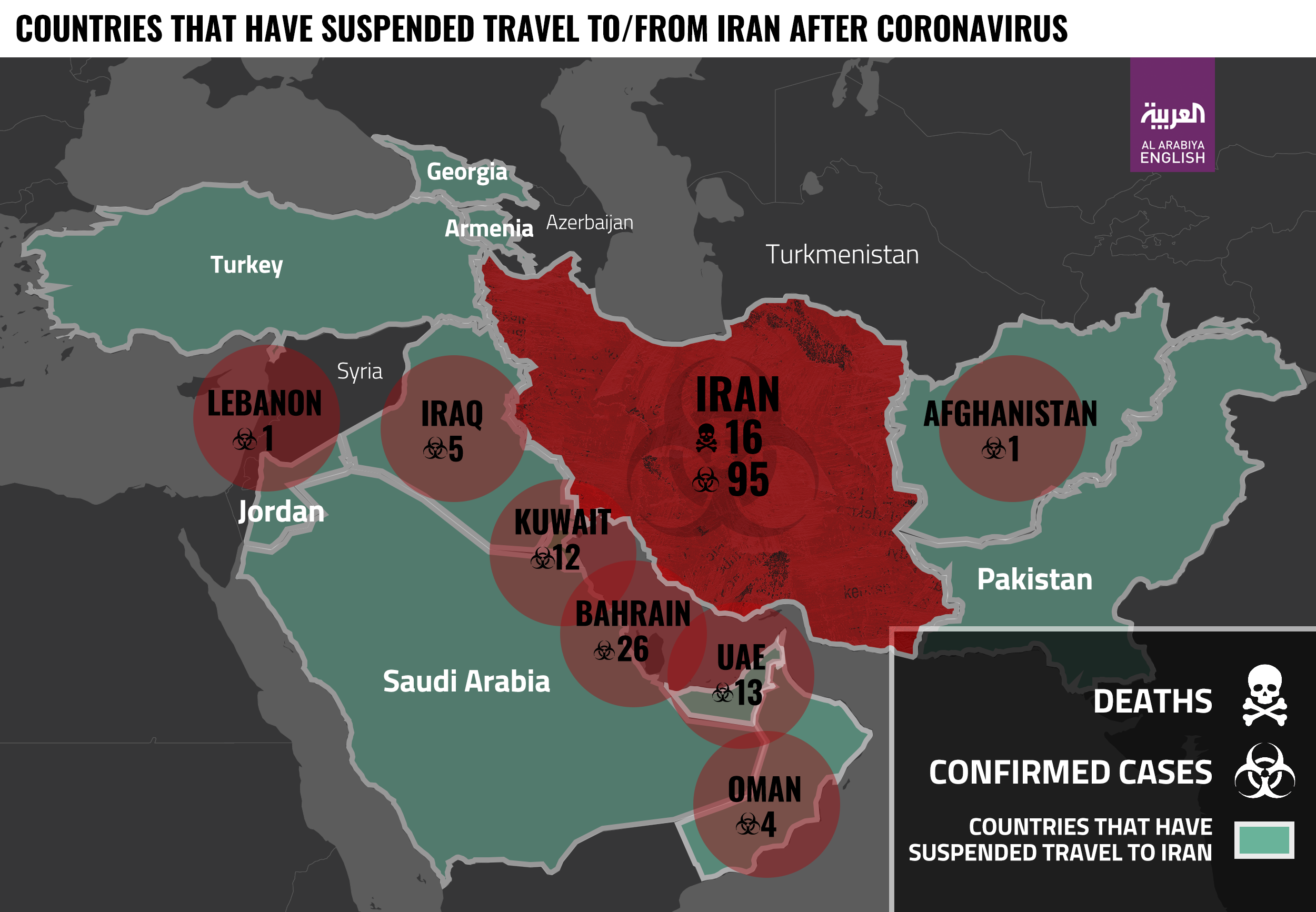 Coronavirus Iran Map Infographic UPDATED