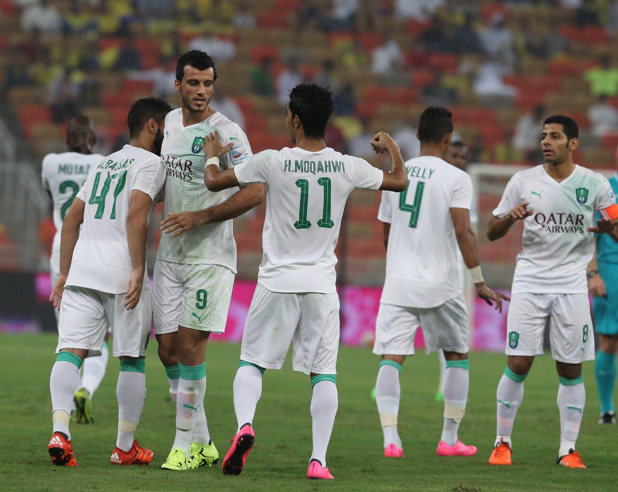السومة خلال مباراة أهلي جدة والنصر في أكتوبر 2015