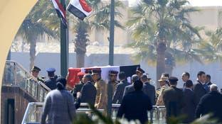 بالصور.. تشييع حسني مبارك بجنازة عسكرية في حضور السيسي