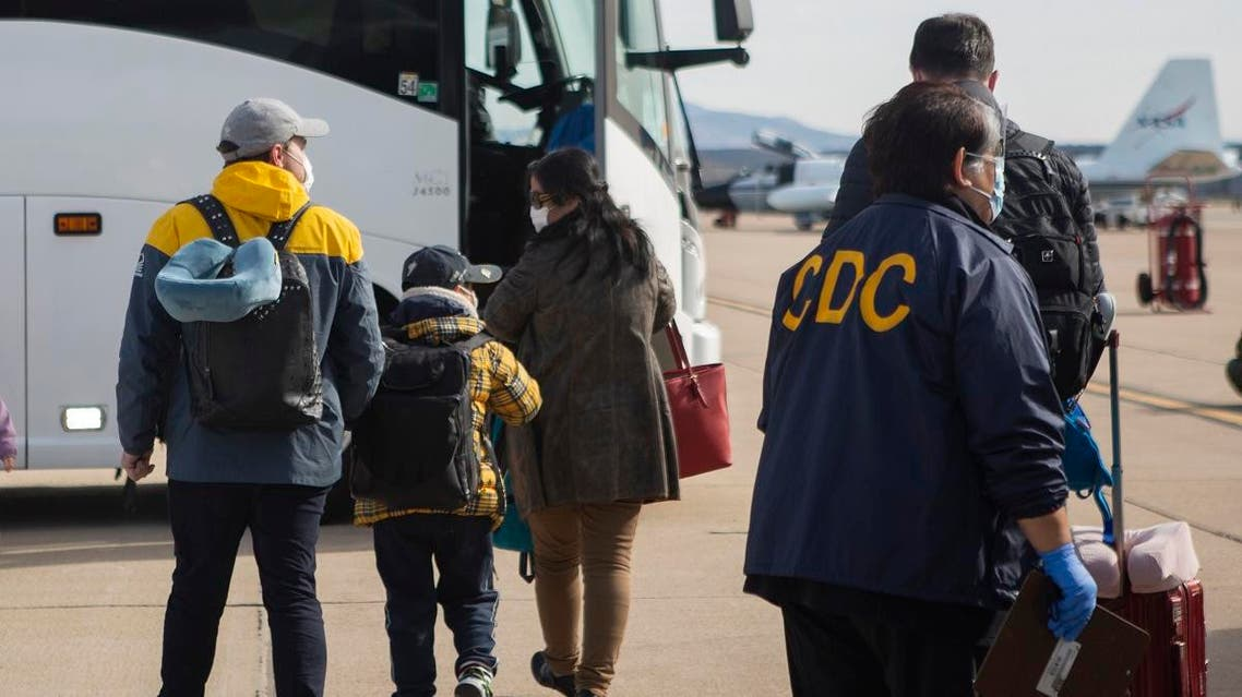 Evacuees from China arriving at Marine Corps Air Station in Miramar, California, USA. (File photo: AP)