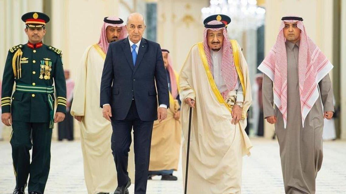Saudi Arabia's King Salman meets with Algerian President Abdelmadjid Tebboune main